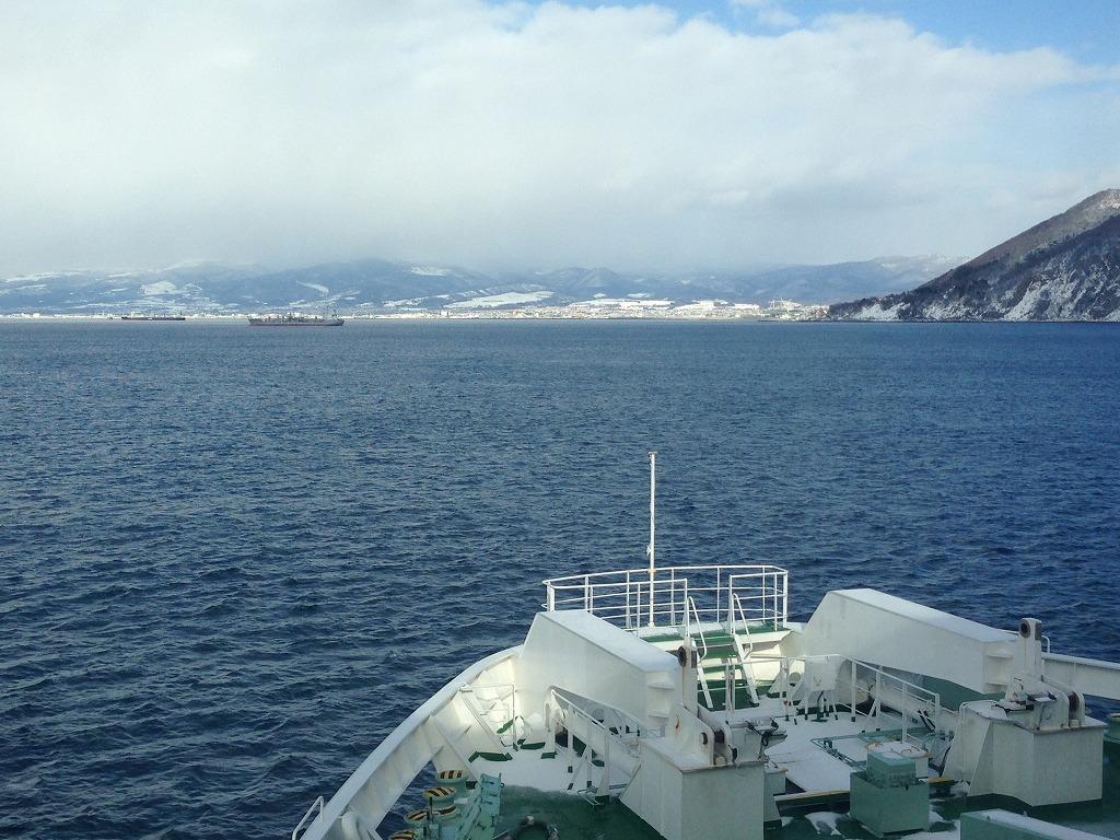 津軽海峡、向こうは函館