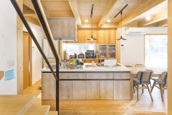 開放感のあるオープンキッチン