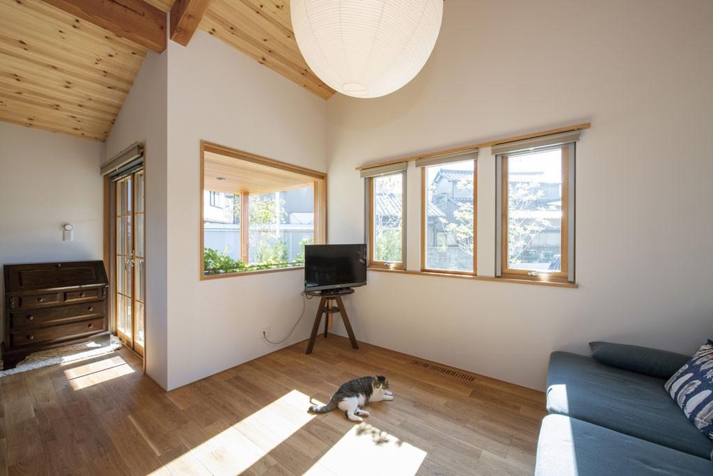 猫とくつろぐ快適な家