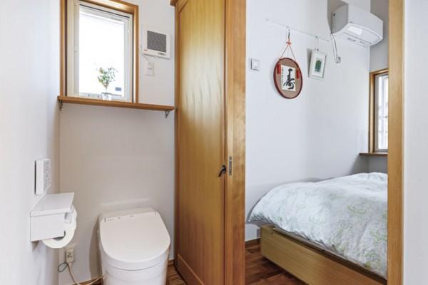 老後のことを考え、リビングからも寝室からもアクセスできる